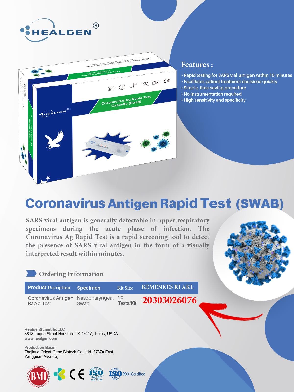 Healgen COVID-19 Ag Antigen